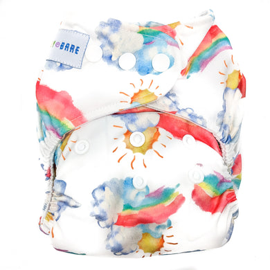 Baby Bare Cub Reusable Nappy Over the Rainbow