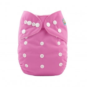 BUBBLEGUM PINK ALVA BABY CLOTH NAPPY WITH BAMBOO INSERT