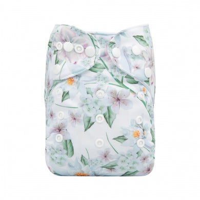 Alva Baby reusable nappy dreamy garden print