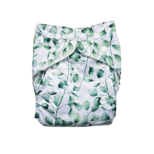 Load image into Gallery viewer, Evia OSFM Reusable Nappy in Leaf print