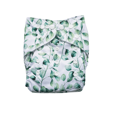 Evia OSFM Reusable Nappy in Leaf print