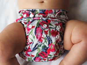 Baby Bare All In 2 Bare Cub Nappy Squawk print lifestyle