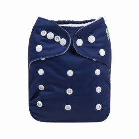 Eclipse- dark indigo Alva Baby Modern cloth Nappy with Bamboo Nappy insert