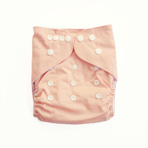 Evia OSFM Pocket Nappy- Peachy Keen