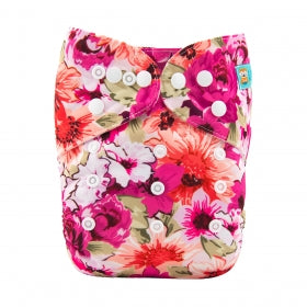Alva Baby OSFM pocket nappy Bright floral print