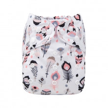 Load image into Gallery viewer, Feather print Alva baby  reusable diaper