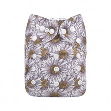 Load image into Gallery viewer, Alva baby cloth nappy sunflower print with bamboo inserts