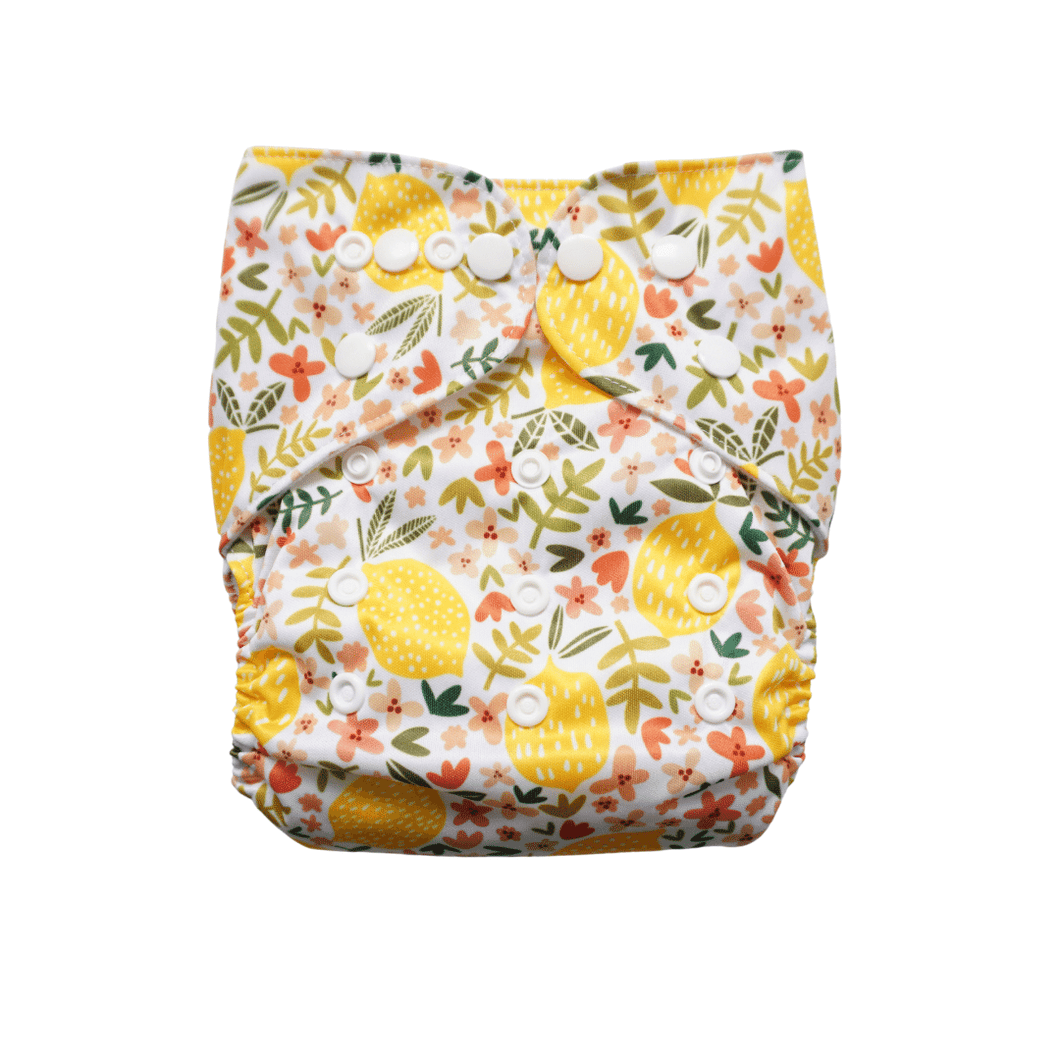 EVIA Reusable Nappy printed nappy Limoncello print