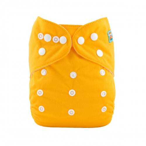 Alva Baby OSFM pocket cloth nappy Mango sorbet front