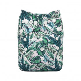 Alva Baby OSFM pocket cloth nappy Paradise palms