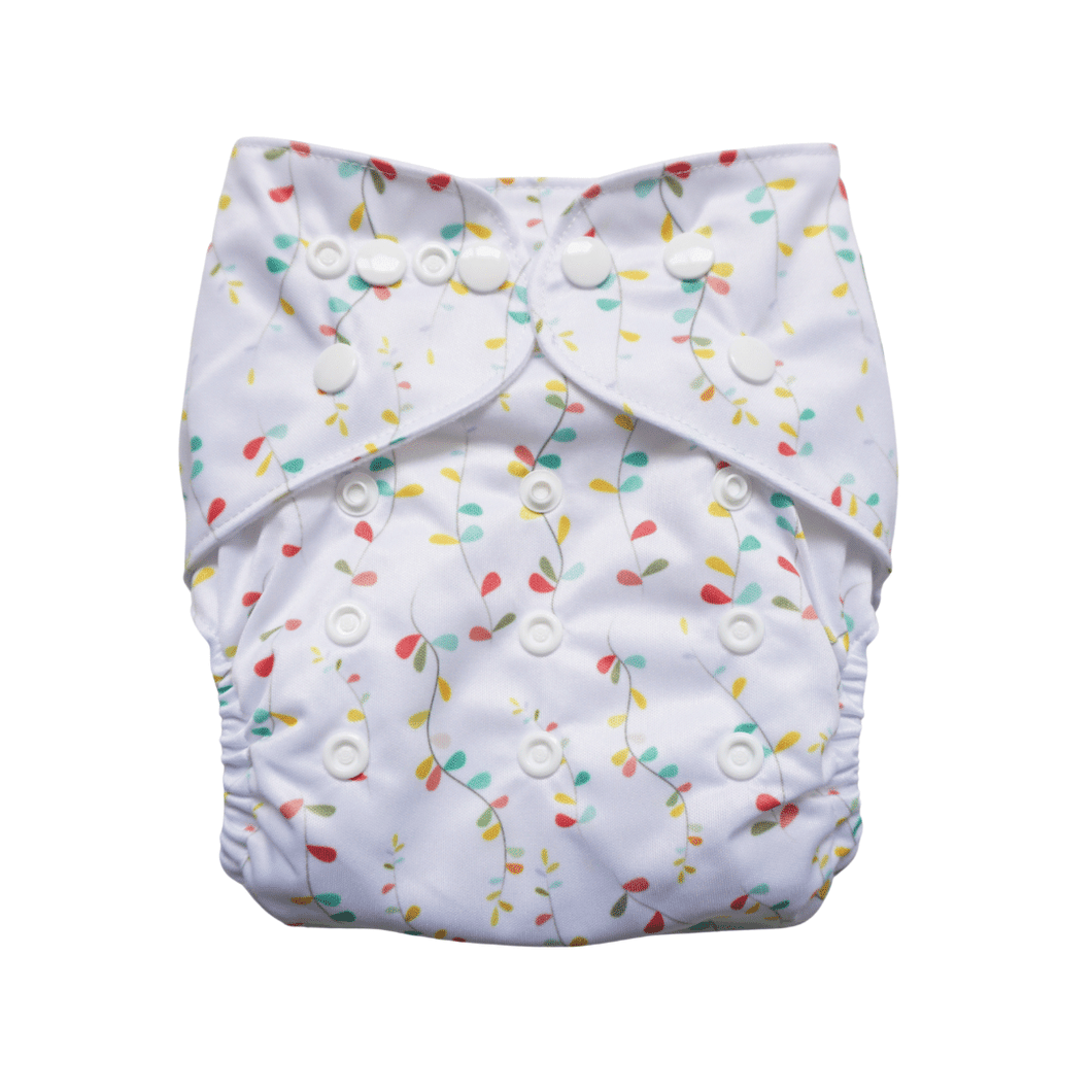 Evia Reusable Nappy Rainbow Tales print