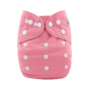 Alva Baby OSFM pocket cloth nappy Rose front