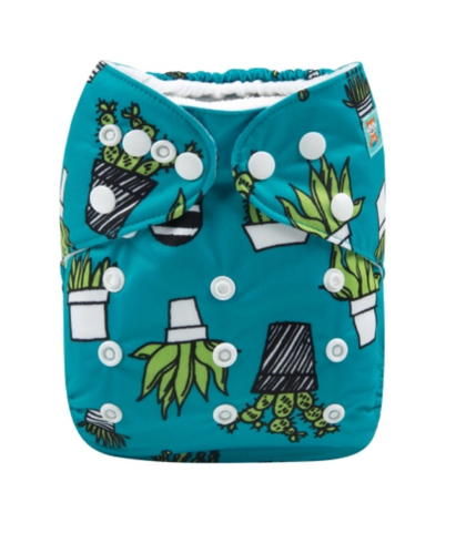 Eco friendly Alva baby modern cloth nappy cactus print