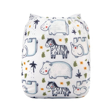 Load image into Gallery viewer, Alva Baby OSFM Pocket Nappy- Zoo friends
