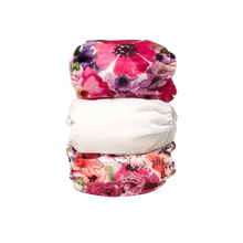 Load image into Gallery viewer, Alva baby pocket nappy stack flower power