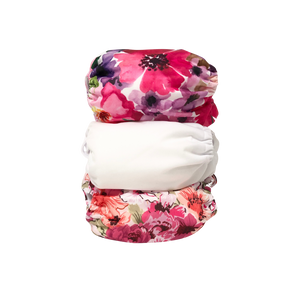Alva baby pocket nappy stack flower power