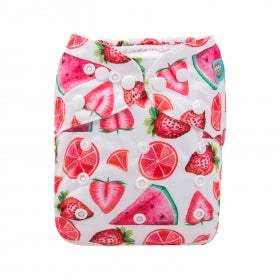 Alva Baby OSFM pocket nappy fruity print