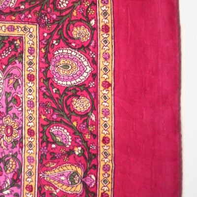 Bohemian Chic Silk Head Scarf Hot Pink