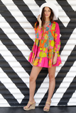 Mini Dress Colorful Tunic - Colorful Pink