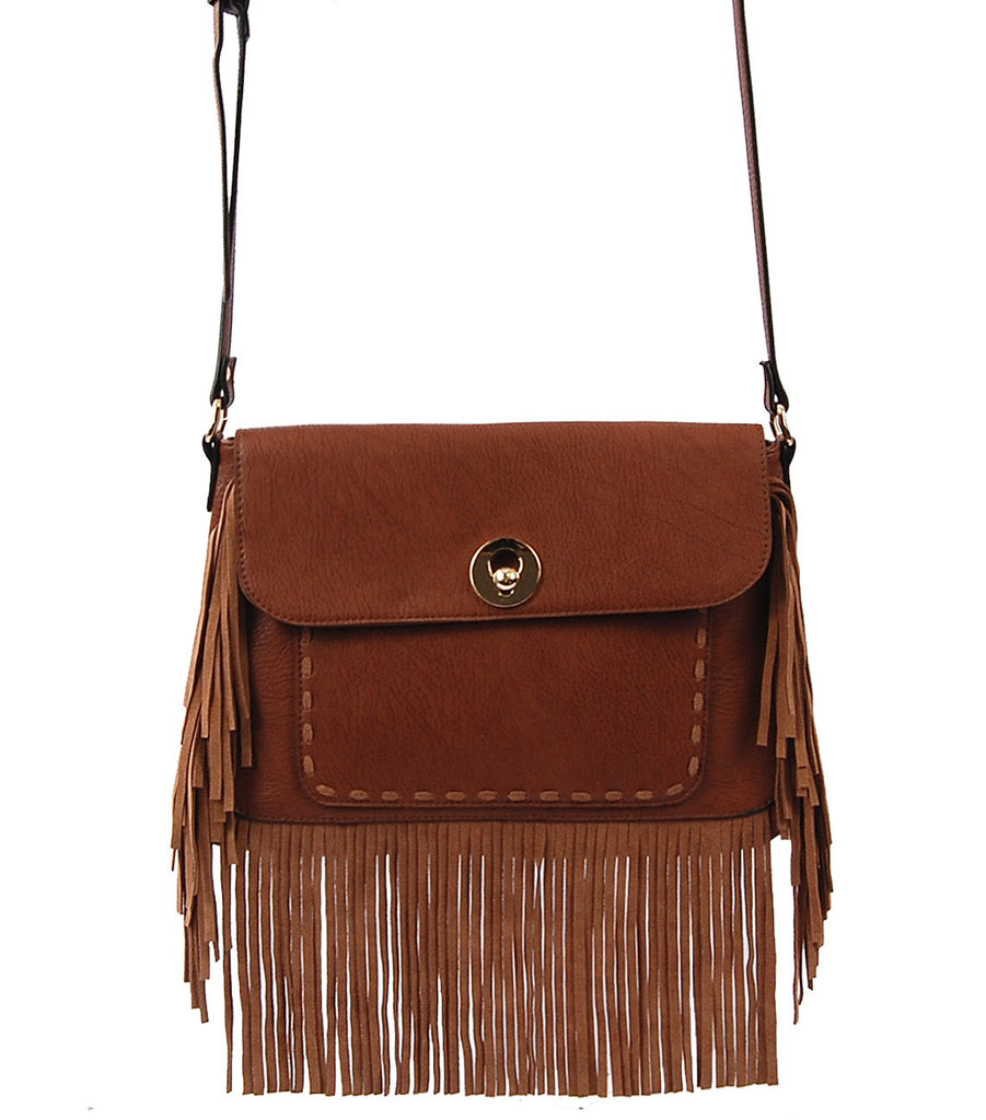 Boho Chic Fringe Shoulder Bag