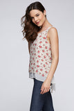 Bohemian Romantic Floral Layered Tank Top