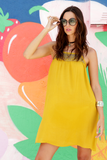 Mini Dress Mustard Tunic