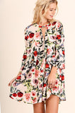 Floral Print Keyhole Dress Tunic