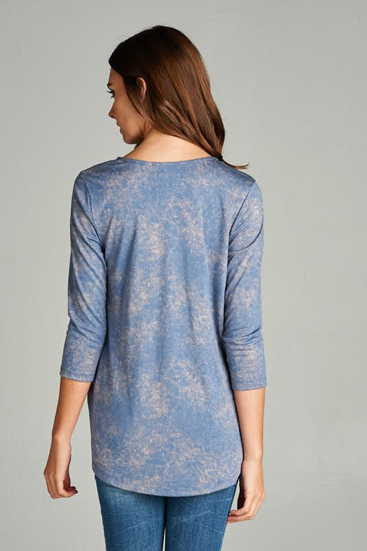 Fall Criss Cross Blue Dream Long sleeves Shirt