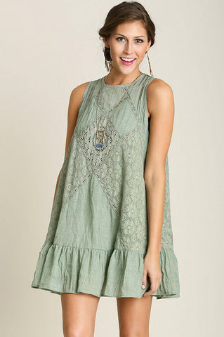 Sweet Spring Dress in Sage