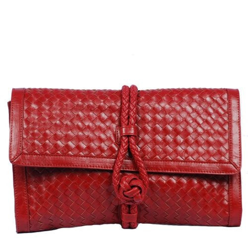 JENN by VIETA Woven Clutch in Red
