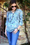 Cotton Shirt - Bohemian Blue Magic