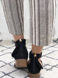 Florence - Strappy Block Heel Sandals in Black