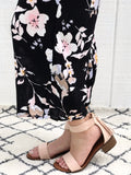 Florence - Strappy Block Heel Sandals in Blush Pink