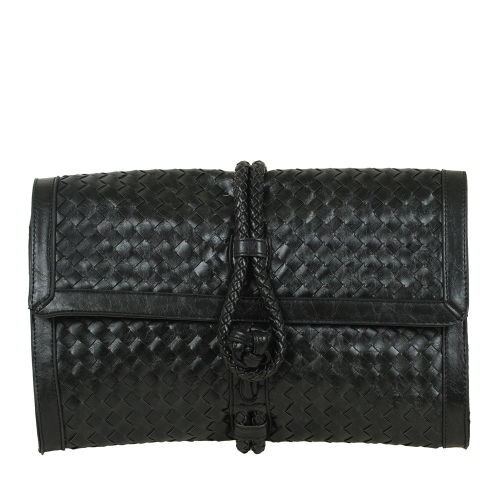 JENN by VIETA Woven Clutch in Black