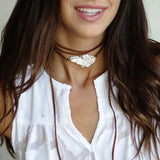 Natural Stone Choker in White