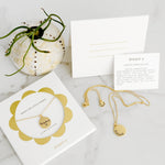 Compass - 24 Karat Gold Plated Coin Dainty Necklace