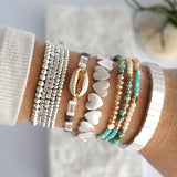 Turquoise Beads Summer Bracelet set
