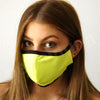 Face Mask Neon Yellow, Bright Color Black Yoga Style