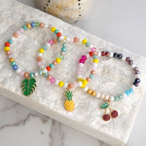 Summer Fruity Beads Bracelet