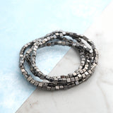Square Metal Beads Bracelets Set