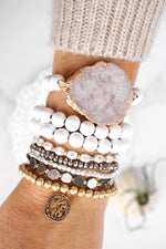 Bohemian Bracelet Set with a Coin