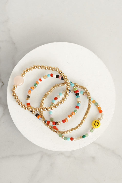 Be Happy Bracelets Set