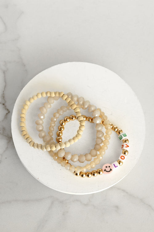 Love Be Happy Bracelets Set