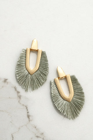 Chandelier Fringe Earrings in Worn Gold Tone