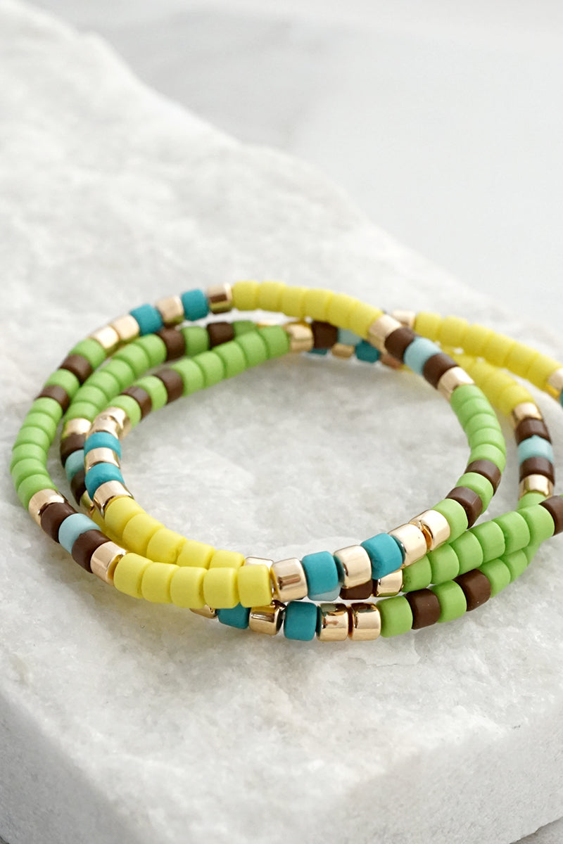 Colorful Beads Bracelet set