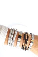Grays Color Blocks Layering bracelet