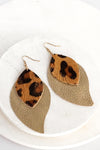 Animal Print Leather Earrings