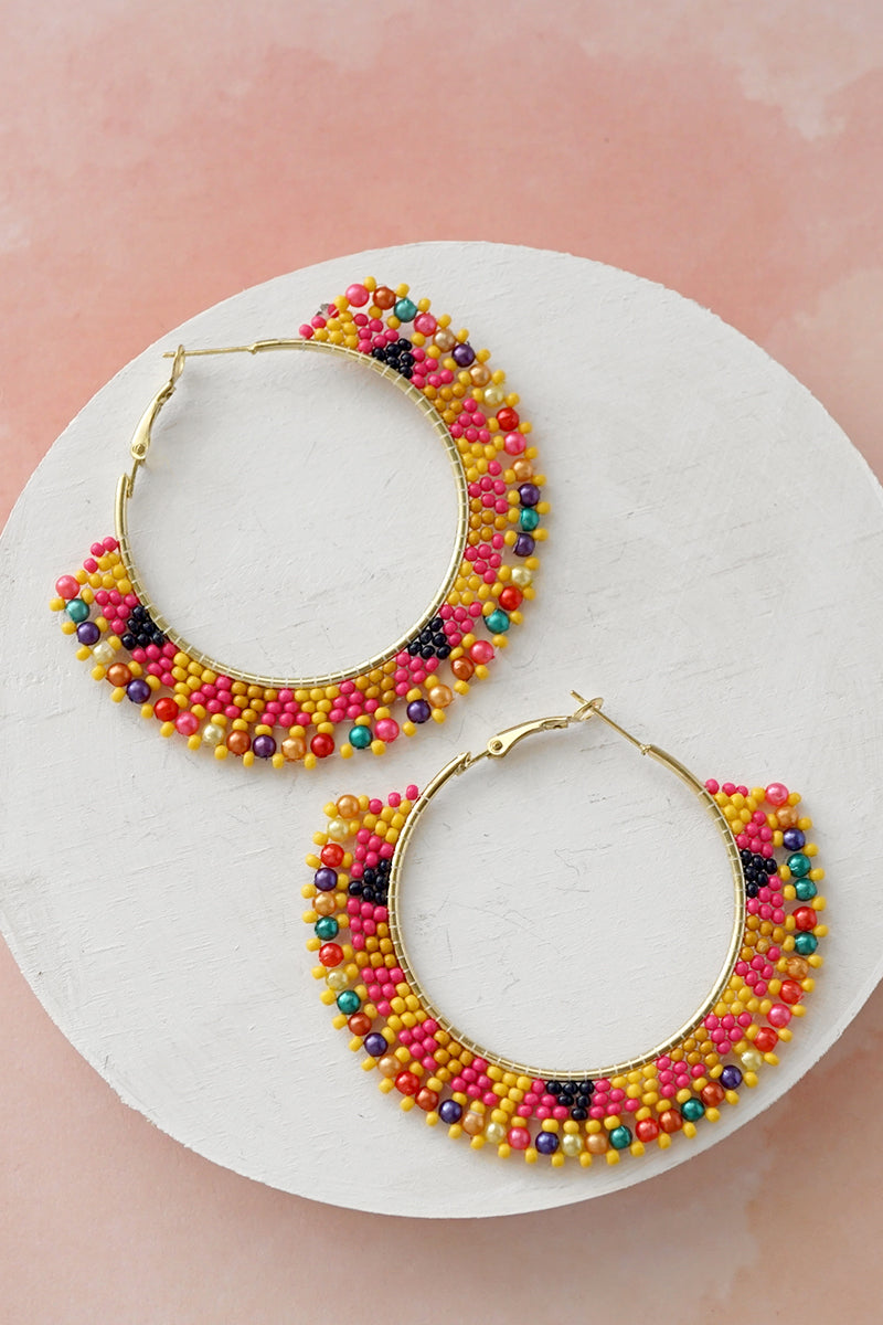 Colorful Hoops Earrings