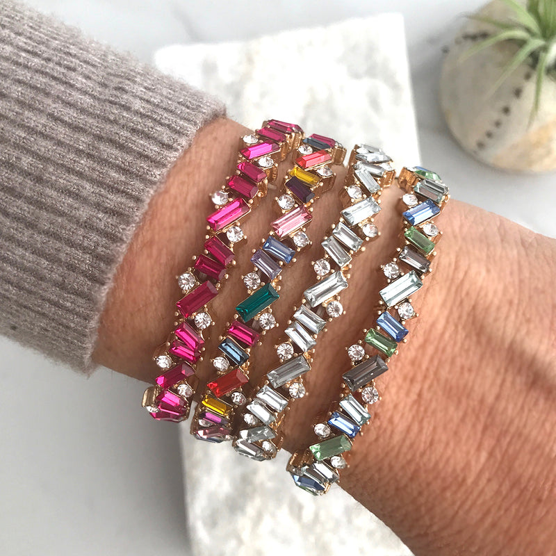 Shiny Shiny - Stretchy sparkly bracelet - clear