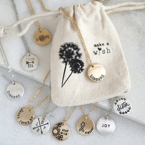 Inspiration Stamped Necklace